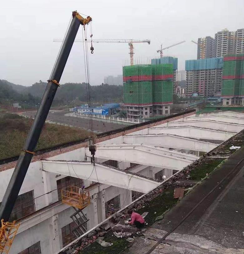 昆山厂房拆除吊装施工